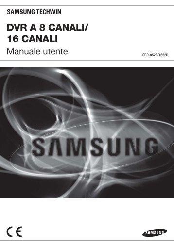 User Manual_SRD-852D, 1652D_ITALIAN_Web.indb - Samsung ...