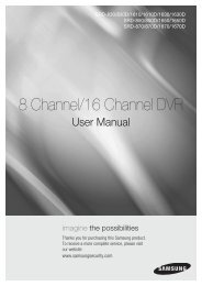 8 Channel/16 Channel DVR - Samsung Techwin UK