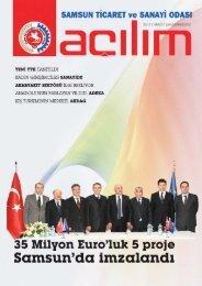 Açılım Sayı:23 Şubat/Mart 2012 - Samsun Ticaret ve Sanayi Odası