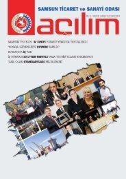 Açılım Sayı:28 Aralık 2012/Ocak 2013 - Samsun Ticaret ve Sanayi ...