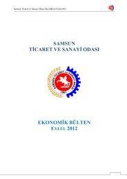 Eylül 2012 - Samsun Ticaret ve Sanayi Odası