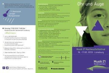 Ohr und Auge - Musik 21 Niedersachsen