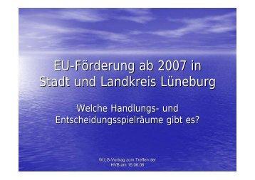 EU-Förderung ab 2007 - WLG-Info (pdf 0 - Samtgemeinde Ilmenau