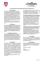 Benutzungsordnung der Stadt Lüneburg - Amt-Neuhaus