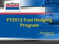 FY2013 Fuel Hedging Program - SamTrans