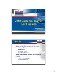 2012 Customer Survey Key Findings - SamTrans