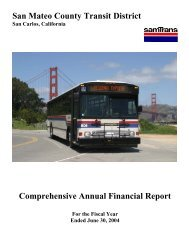 For the Fiscal Year Ended June 30, 2004 - SamTrans