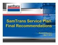 SSP Final Recommendations Board Presentation - SamTrans