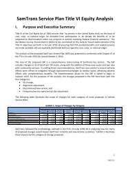 Title VI Equity Analysis of the SSP - SamTrans