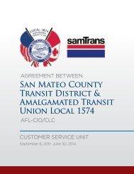 CBA with Amalgamated Transit Union Local 1574 ... - SamTrans