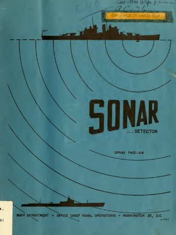 Sonar : detector of submerged submarines