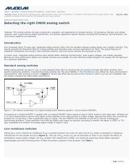 Selecting the right CMOS analog switch - AN638