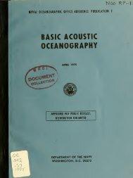 Basic acoustic oceanography