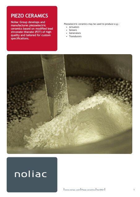 Piezo ceramics pdf