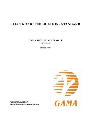 ELECTRONIC PUBLICATIONS STANDARD