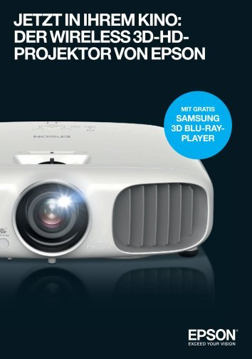 der wireless 3d-hd- projektor von epson - Beamer-Discount