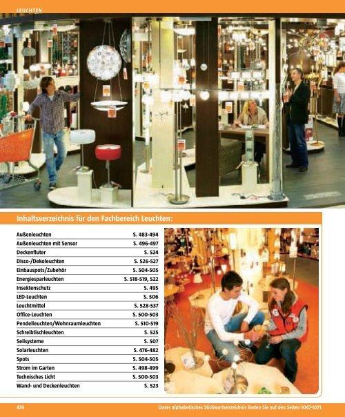 Inhaltsverzeichnis Für Den Fachbereich Leuchten Bauhaus