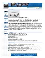 4.0 Ultra-Portabel EPSON EB-84 Epson EB-8 ... - Beamer-Discount