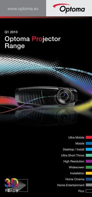 Optoma Projector Range - Beamer-Discount