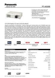 Datenblatt: PT-AX200E - Beamer-Discount