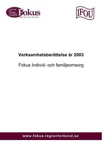 Verksamhetsberättelse Individ- och ... - Fokus Kalmar län
