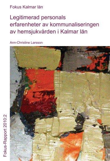 Rapport 2010:2 - Fokus Kalmar län