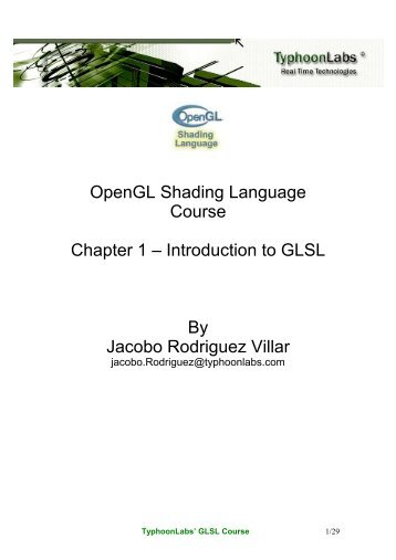 Introduction to GLSL - OpenGL