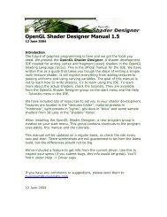 OpenGL Shader Designer manual (pdf)