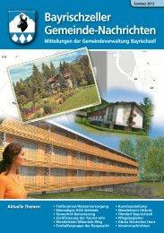 Bayrischzeller Gemeindenachrichten Sommer 2012