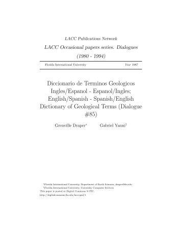 Diccionario de Terminos Geologicos Ingles/Espanol ... - Lexicool
