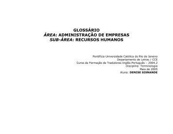 recursos humanos - Departamento de Letra PUC-Rio