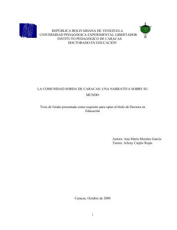 REPÚBLICA BOLIVARIANA DE VENEZUELA ... - cultura Sorda