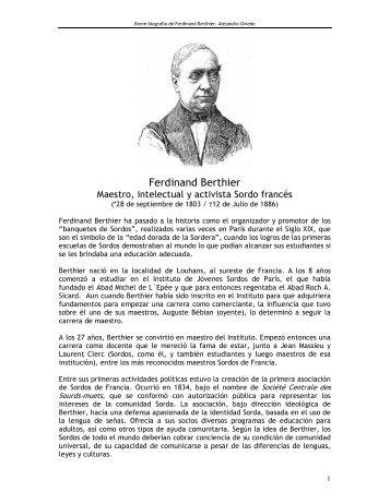 Ferdinand Berthier - cultura Sorda