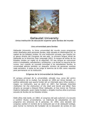 Gallaudet University - cultura Sorda