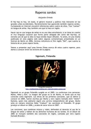 Raperos sordos - cultura Sorda