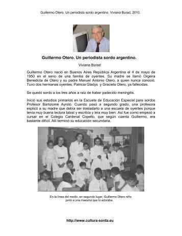 Guillermo Otero. Un periodista sordo argentino. - cultura Sorda