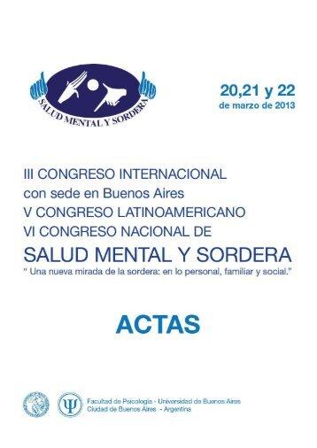 Conferencias del III Congreso Internacional, V ... - cultura Sorda