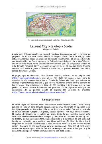 Laurent City y la utopía Sorda - cultura Sorda