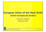 European Union of the Deaf (EUD) - Conadis