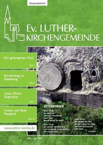 März-Mai 2013 - Ev. Luther-Kirchengemeinde Remscheid
