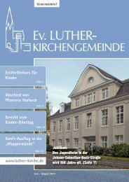 Juni-August 2013 - Ev. Luther-Kirchengemeinde Remscheid
