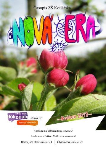 Nová éra 2011/2012 duben + květen - ZŠ a MŠ Kotlářská
