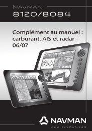 Complément au manuel : carburant, AIS et radar ... - Navman Marine
