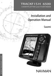 Installation and Operation Manual - Navman Marine