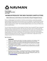 navman introduces two new tracker chartplotters - Navman Marine