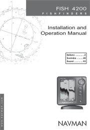 ECOSCANDAGLI FISH 4200 Manuale per l ... - Navman Marine