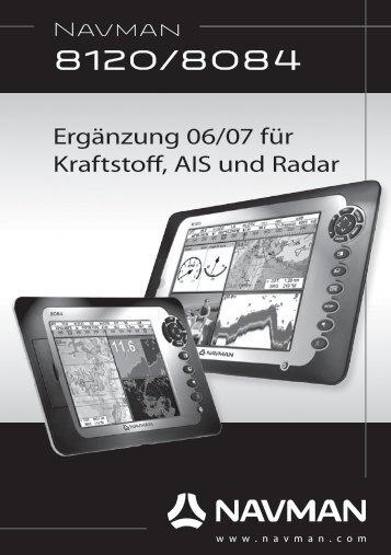 Ergänzung 06/07 für Kraftstoff, AIS und Radar - Navman Marine