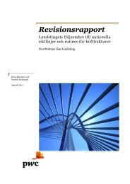 Revisionsrapport - Norrbottens läns landsting