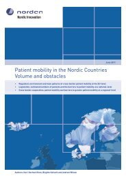 Patient mobility in the Nordic Countries Volume ... - Nordic Innovation