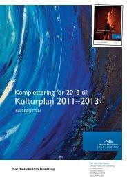 Kompletteringar för 2013 - Norrbottens läns landsting